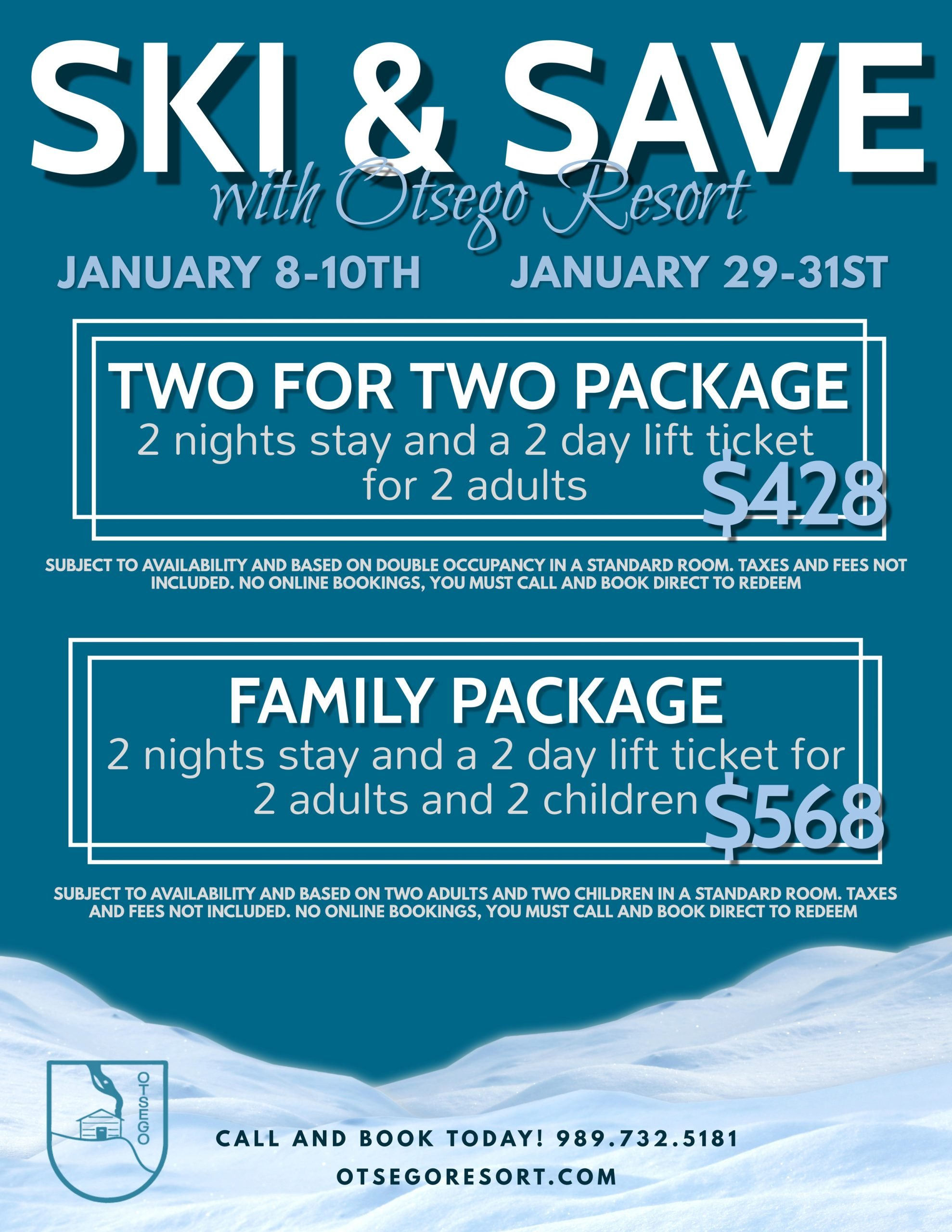 SKI AND SAVE PACKAGES