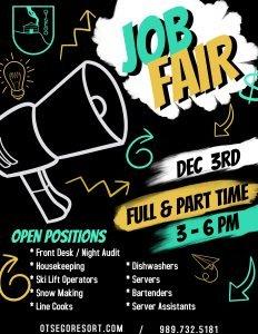 December 3rd Job Fair Flyer