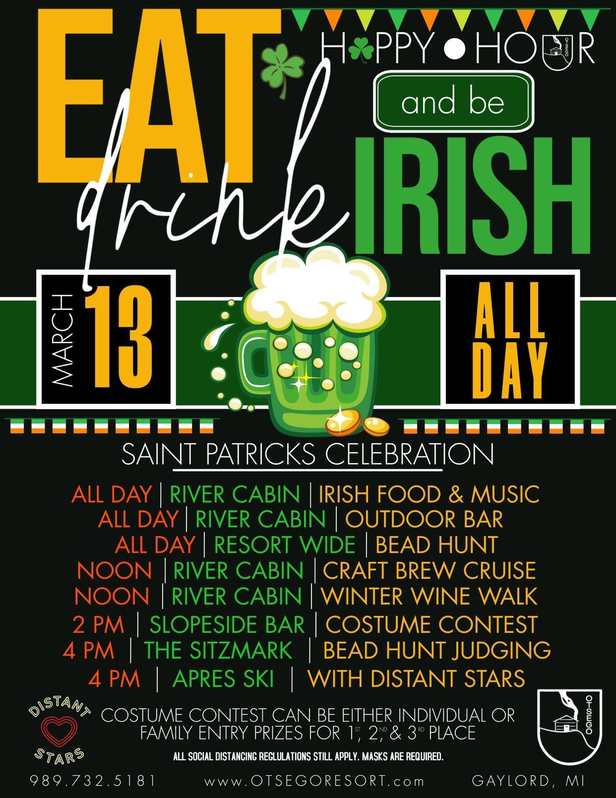 St.Patrick's Day Celebration flyer w/ band