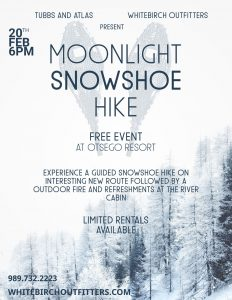 Moonlight Snowshoe Hike Flyer