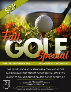 Fall Golf Special At Otsego Reosrt